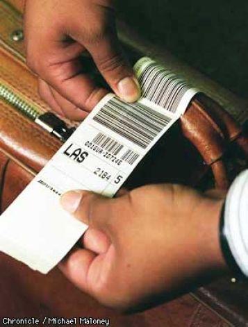 Bag tag to Las Vegas Airport
